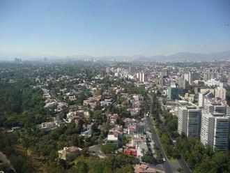 Lomas de Chapultepec - Lomas de Chapultepec facing from Periférico towards Bosques de las Lomas.