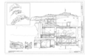 Longitudinal Section A Levels 3, 4, and 5 - Montezuma Castle, Off I-17, Camp Verde, Yavapai County, AZ HABS ARIZ,13-CAMV.V,1- (sheet 17 of 20).png
