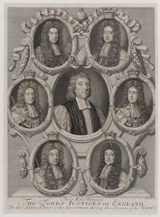 Thomas Tenison - Archbishop Tenison was one of seven Lord Justices whom King William appointed to administer the kingdom whilst he was on campaign in Europe.