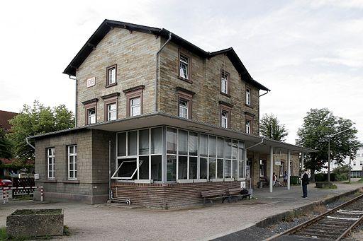 Bahnhof Lorsch, Start- und Endpunkt der Welterbetour Lorsch