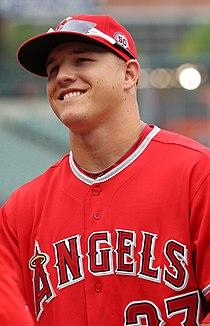 Los Angeles Angels center fielder Mike Trout (27) (5971760364).jpg