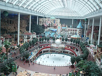 Lotte World - Image of a bird's eye view in Lotte World (Lotte Land) in Seoul, South Korea