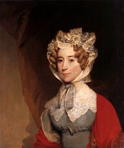 Louisa C. Adams portréja, 1820-as évek. (Gilbert Stuart műve)