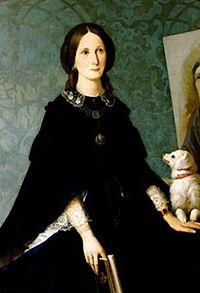 Louisa Grace Bartolini - Self-portrait in Uffizi Gallery.jpg