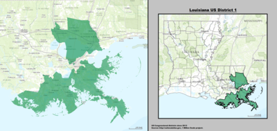 Louisiana's 1st congressional district - since January 3, 2013.