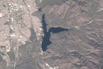 Lower Otay Reservoir - Image: Lower Otay Reservoir 2013 (Cropped)