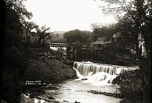 Wilton, Maine - Lower dam on Wilton Stream c. 1915