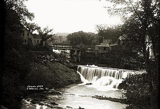 Wilton, Maine - Lower dam on Wilton Stream c. 1915