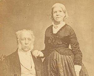 Admiralty House, Sydney - Colonel John George Nathaniel Gibbes and Mrs Elizabeth Gibbes circa 1865.