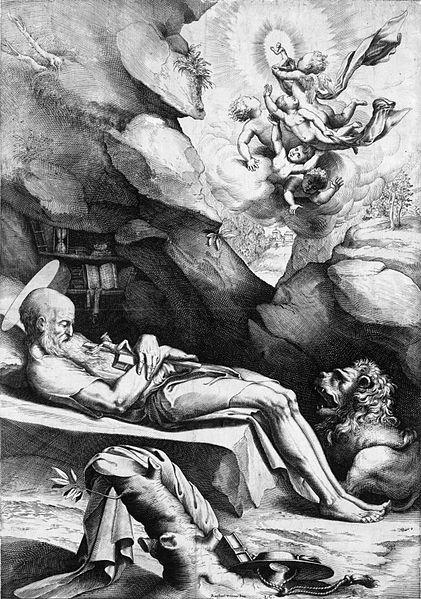 Description St. Jerome dying in solitude. Engraving, Ciamberlano, Luca (1586-1641), 1614. Date 12 April 2011, 11:42 (UTC) Source Luca_Ciamberlano_-_St._Jerome_dying_in_solitude.jpg Author Luca_Ciamberlano_-_St._Jerome_dying_in_solitude.jpg: Luca Ciamberlano derivative work: Electron ツ ➧☎