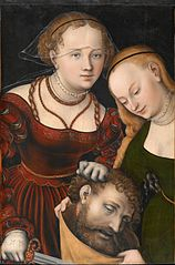 Judith with the head of Holofernes and a servant
