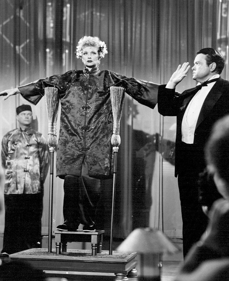 Lucille Ball Orson Welles I Love Lucy 1956