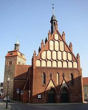 Luckenwalde - Market tower and St. John's Church