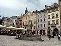 Lwów , Polish , now Lviv , Львов - Rynek 31, 30, 29, 28, 27, 26 . Fontanna Diany - panoramio.jpg