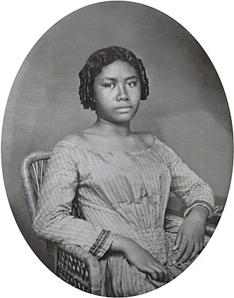 Liliʻuokalani - Liliʻuokalani in her youth, c. 1853