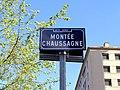 Lyon 8e - Montée Chaussagne - Plaque (mai 2019).jpg