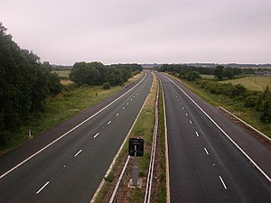 West Midlands (region) - The M45 motorway, originally called the Dunchurch Link, was one of the first motorways built in the UK, and is now one of the quietest