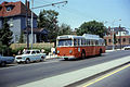 MBTA 8498 on Massachusetts Avenue in 1967.jpg
