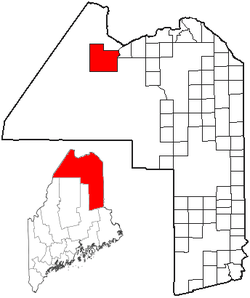 Location of Allagash, Maine