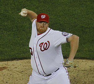 Todd Coffey - Coffey pitching for the Nationals in 2011.
