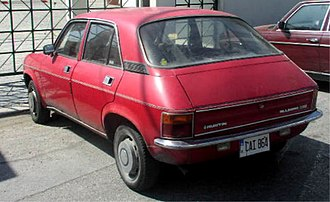 Austin Allegro - Rear of an exported Allegro