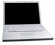 An Apple 17' MacBook Pro is often used as a desktop replacement.