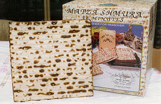 Matzo unleavened flatbread in Jewish cuisine; an element of the Passover festival