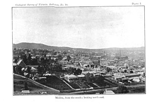 Maldon, Victoria - Maldon in 1904, seen from the south-west