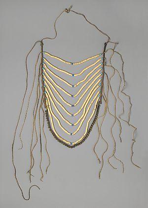 Breastplate - Man's Breastplate, Crow (Native American), 1880–1900, Brooklyn Museum