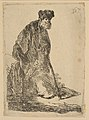 Man in a Cloak and Fur Cap, Leaning against a Bank MET DP814388.jpg