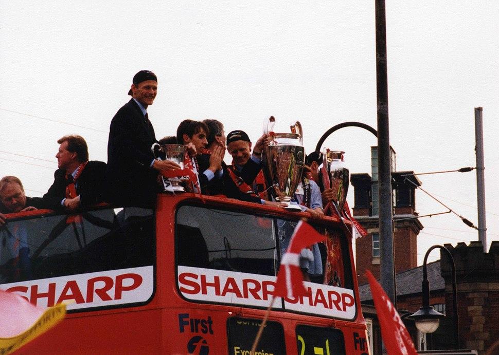Manchester United Treble celebration