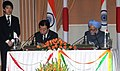 Manmohan Singh and the Prime Minister of Japan, Mr. Yoshihiko Noda signing an agreement on Vision for the enhancement of India-Japan Strategic and Global Partnership upon entering the year of the 60th anniversary of the.jpg