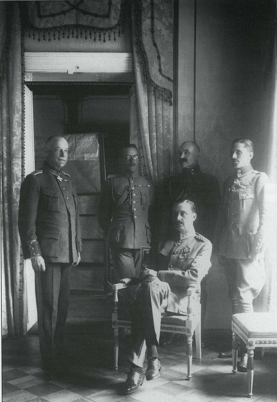 Mannerheim, Lilius, Kekoni, Gallen-Kallela, Rosenbröijer