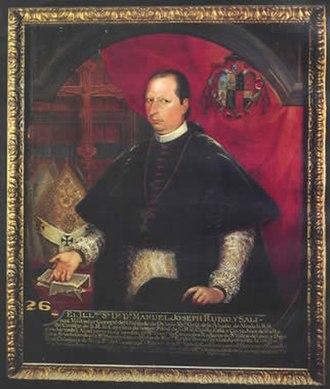 Miguel Cabrera (painter) - Image: Manuel José Rubio y Salinas