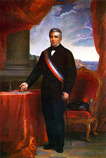 Second portrait officiel de Manuel Montt.