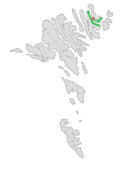 Location of Hvannasunds kommuna in the Faroe Islands