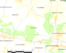 Mapa obce Blacourt
