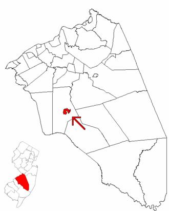 Medford Lakes, New Jersey - Image: Map of Burlington County highlighting Medford Lakes