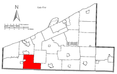 Map of Elks Creek Township, Erie County, Pennsylvania Highlighted.png