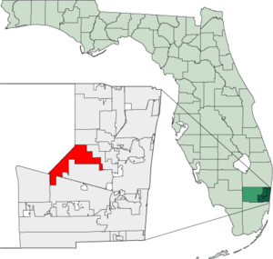 Map of Florida highlighting Sunrise.png