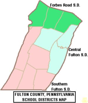 Fulton County, Pennsylvania - Map of Fulton County, Pennsylvania Public School Districts