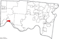 Map of Hamilton County Ohio Highlighting North Bend Village.png