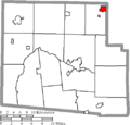 Map of Hardin County Ohio Highlighting Forest Village.png