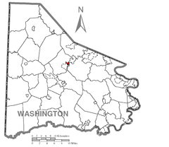 Map of Houston, Washington County, Pennsylvania Highlighted.png
