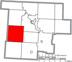 Location of Union Township in Morgan County