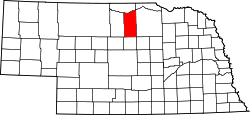 Map of Nebraska highlighting Rock County.svg
