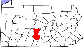 Koort vun Huntingdon County