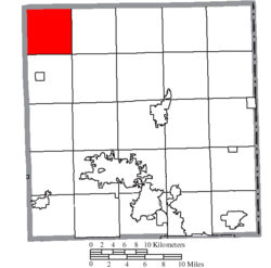 Location of Mesopotamia Township in Trumbull County