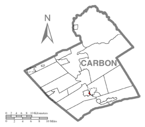 Map of Weissport, Carbon County, Pennsylvania Highlighted.png