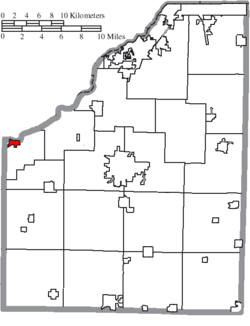 Location of Grand Rapids in Wood County